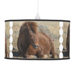 Beautiful Chestnut Icelandic Horse Ceiling Lamp