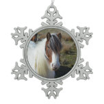 Connemara Pony Snowflake Pewter Christmas Ornament