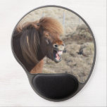 Funny Horse Making a Silly Face Gel Mouse Pad