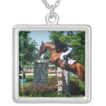 Grand Prix Horse  Sterling Silver Necklace