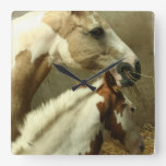 Gray Eventing Horse Wall Clock