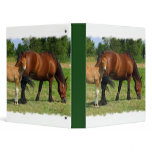 Grazing Horse Family Binder