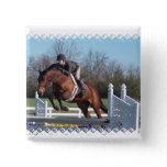 Horses and Show Jumping Square Pin