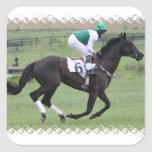 Race Horse Galloping Stickers