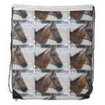 Sweet Roan Pony Drawstring Bag