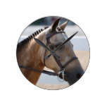 Sweet Roan Pony Round Clock